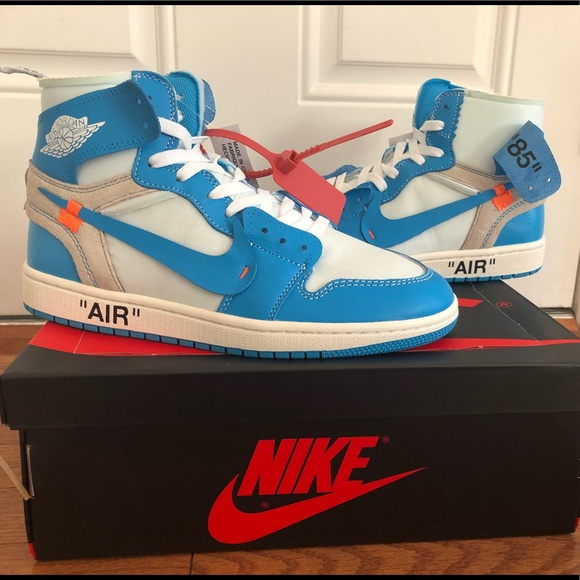 new product 6a282 2ed38 Jordan 1 off White unc size 9 and size 8.5 NWT